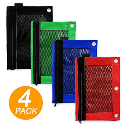 amazon com emraw 4 pieces ring binder pouch pencil bag with