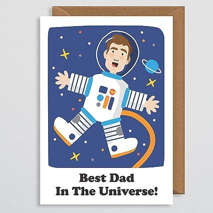 Tarjeta del día del padre - Mejor papá en el universo ...