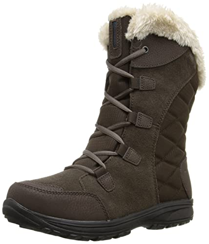 Frost Women Round Toe Synthetic Black Winter Boot  Rubber sole Fur Lined Snow Boot Size - 9 US W