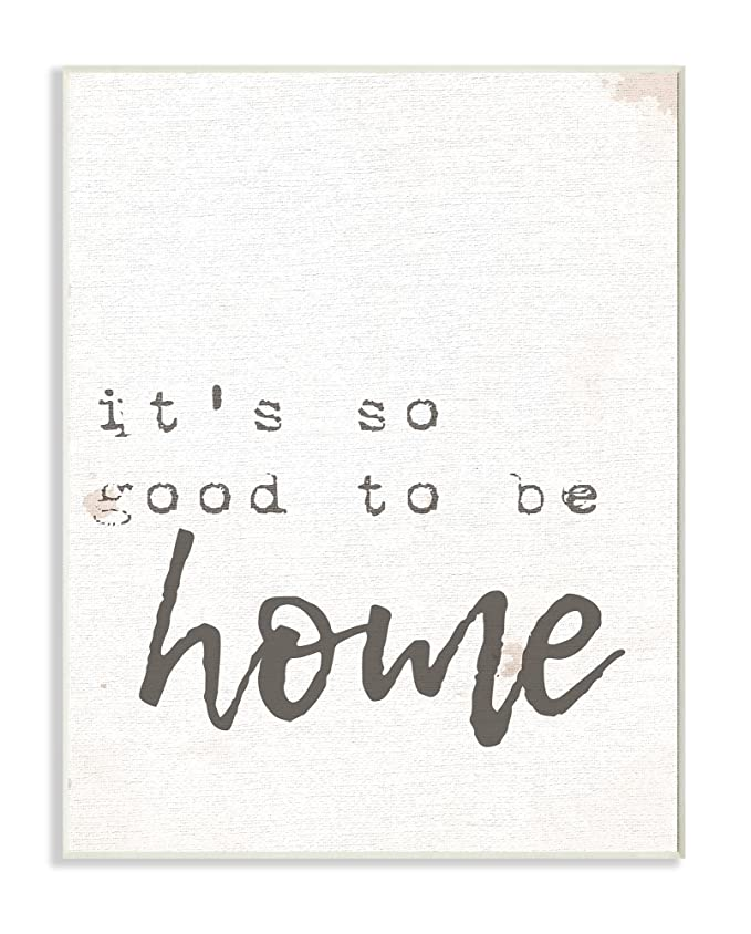 El Stupell Home Décor Collection su So Good to be Home Máquina de Escribir Tipografía Lienzo Pared Arte, Multicolor, 27.94 x 3.81 x 35.56 cm: Amazon.es: ...