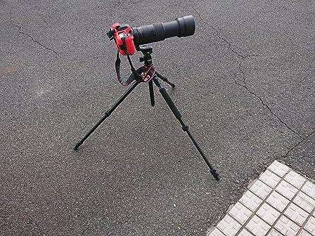 一脚にもなる点は、短所もあり、重いレンズには向かない 安定度は△ カメラ始めた方向けかな