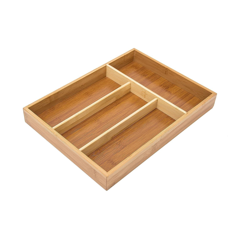 relaxdays besteckkasten aus bambus hxbxt ca 4 x 25 34cm besteckeinsatz mit ebay. Black Bedroom Furniture Sets. Home Design Ideas