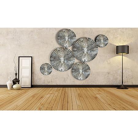 Inhouse 6 pcs Mirror Finish Handmade Metal Wall Art Sculpture Wall ...