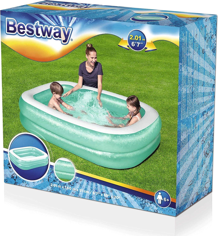 Bestway Family - Piscina hinchable para niños, 201 x 150 x 51 cm, color azul: Amazon.es: Juguetes y juegos