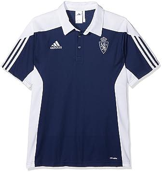 Adidas Mt14 TRG Camiseta Polo Real Zaragoza FC de Tenis, Hombre, Azul (Azuosc), S: Amazon.es: Deportes y aire libre