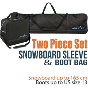 Athletico Two-Piece Snowboard and Boot Bag Combo  d22d2ea81cf95