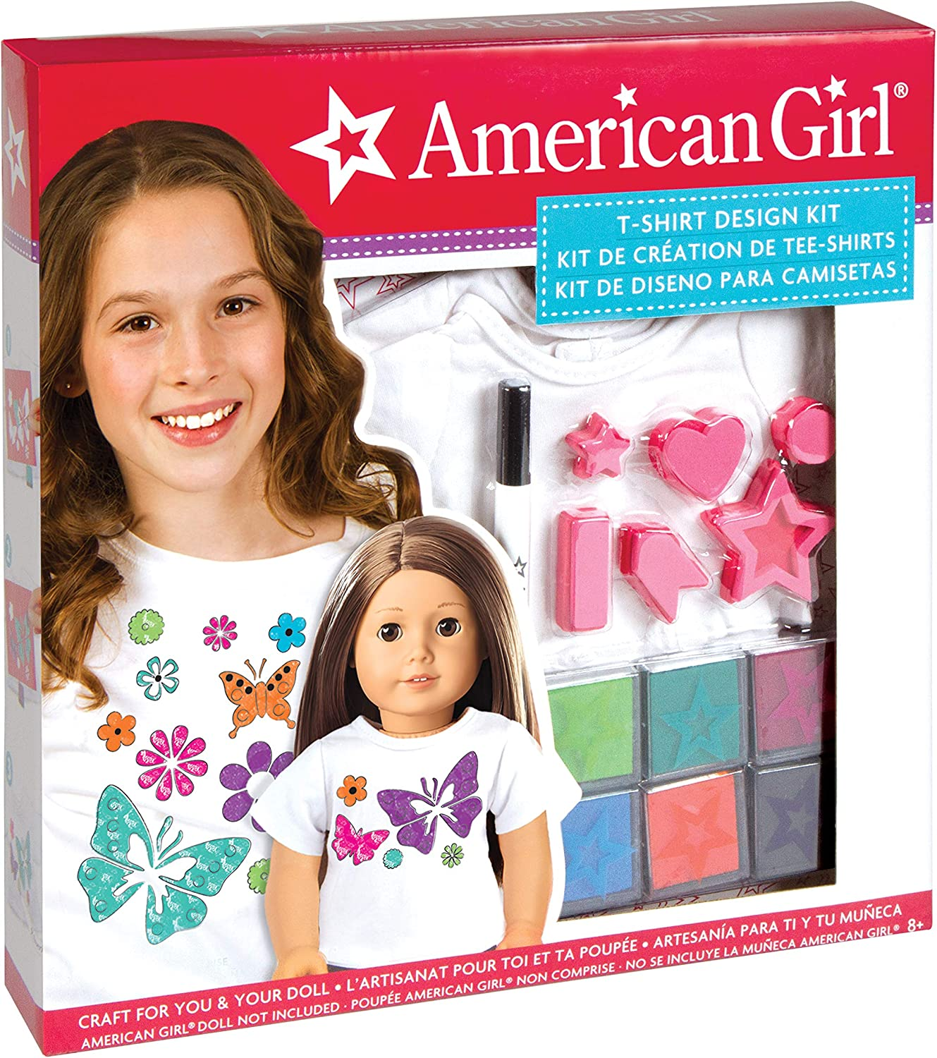 Amazon Com American Girl Stamping T Shirt Design Kit Toys Games