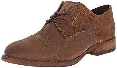 Mens Frye Everett Cap Toe Oxfords Shoes Tan Distressed Nubuck RIJ11350