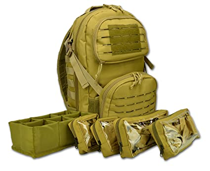 Lightning X Premium Tactical Medic Backpack w/Modular Pouches & Hydration  Port