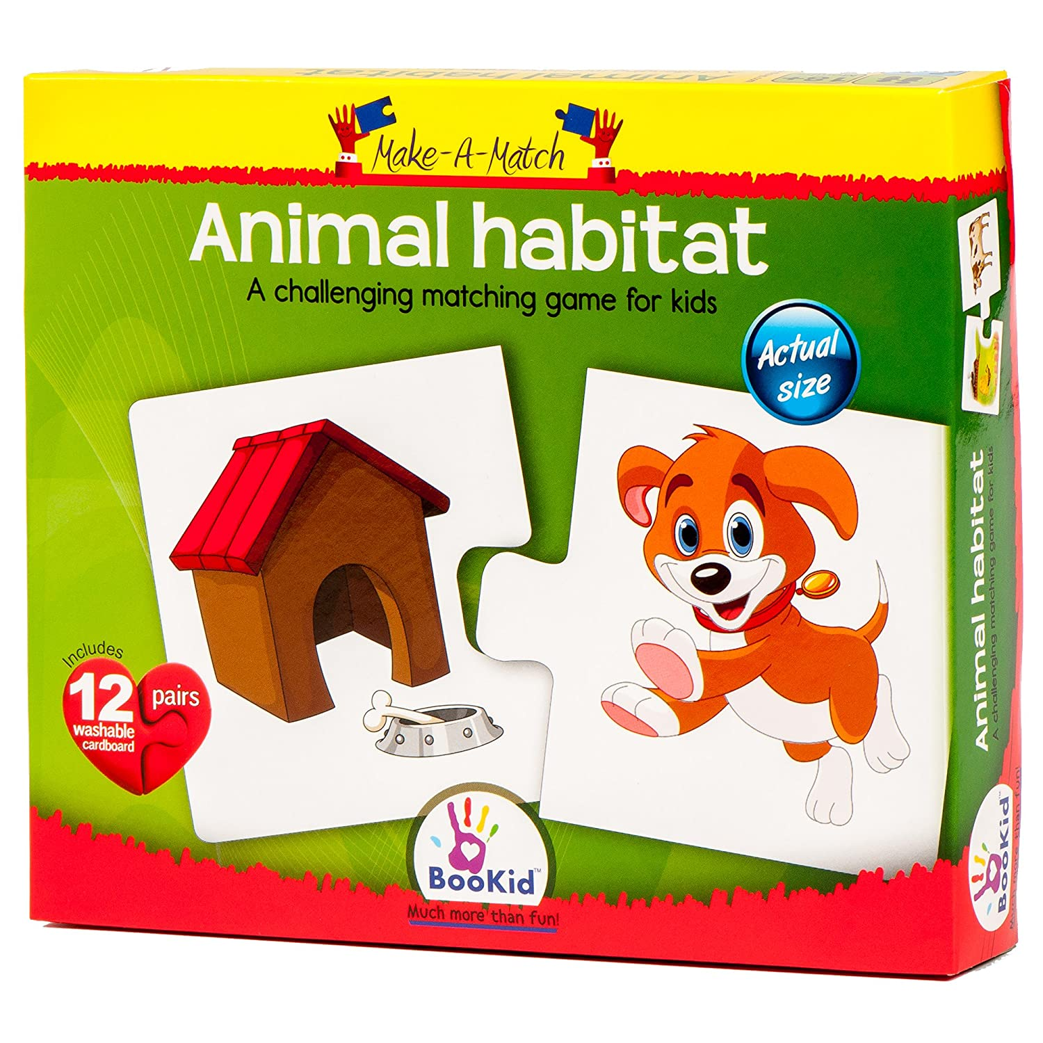 Amazon.com: Puzzle Games For Toddlers Make a Match Animal Habitat ...