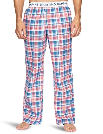af917cb791 Rampant Sporting Check Lounge Pants Men s Loungewear Blueberry Washed Rose  Large