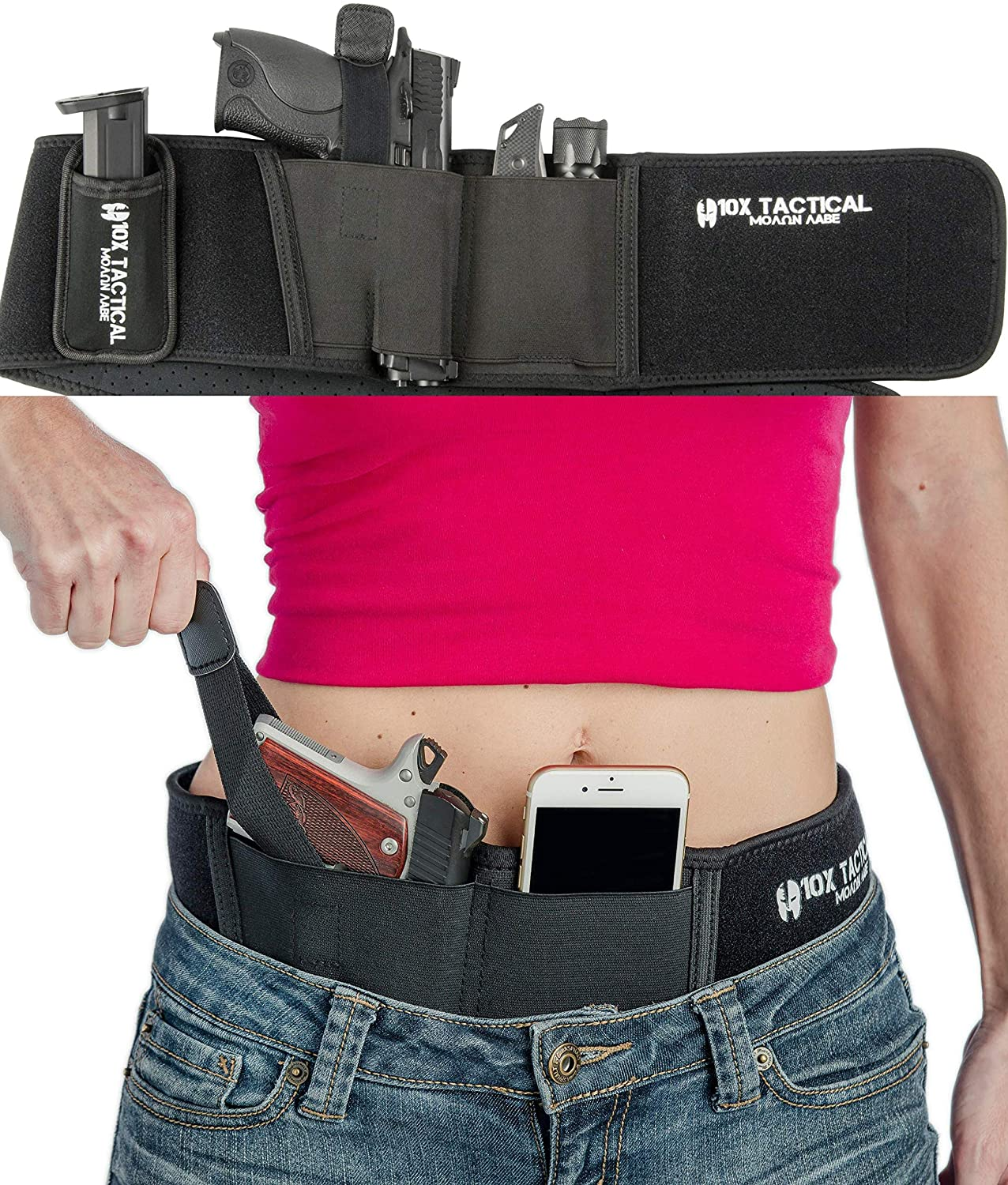 Tactical Concealed Carry Belly Band Holster Fits Gun Glock P238 Ruger LCP