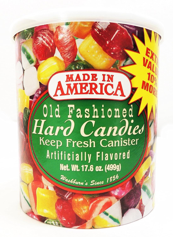 Amazon.com : Washburn\'s Old Fashioned Hard Candy 17.6 Oz Canister ...