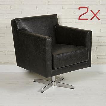 Wholesaler GmbH Juego de 2 sillones giratorios en Color ...