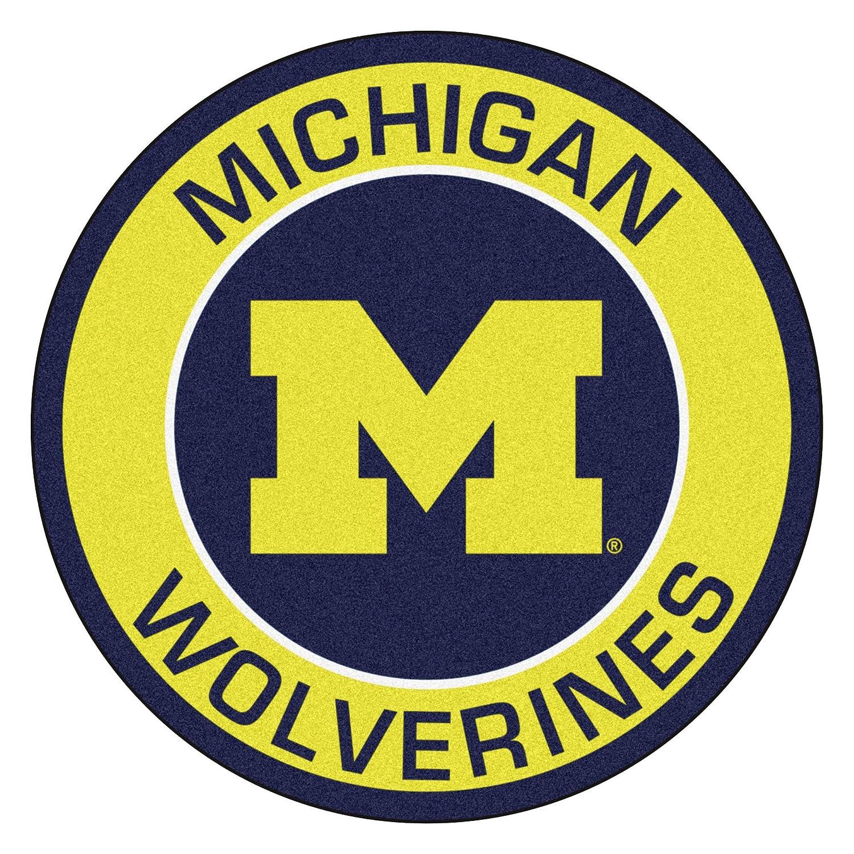 FANMATS 18619 University of Michigan Roundel Mat