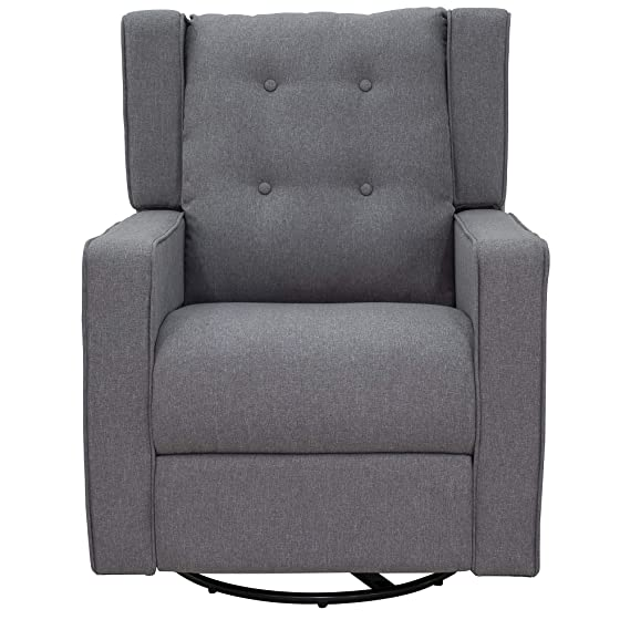 Amazon.com: Festnight Swivel Gliding Recliner Sofa Chair ...