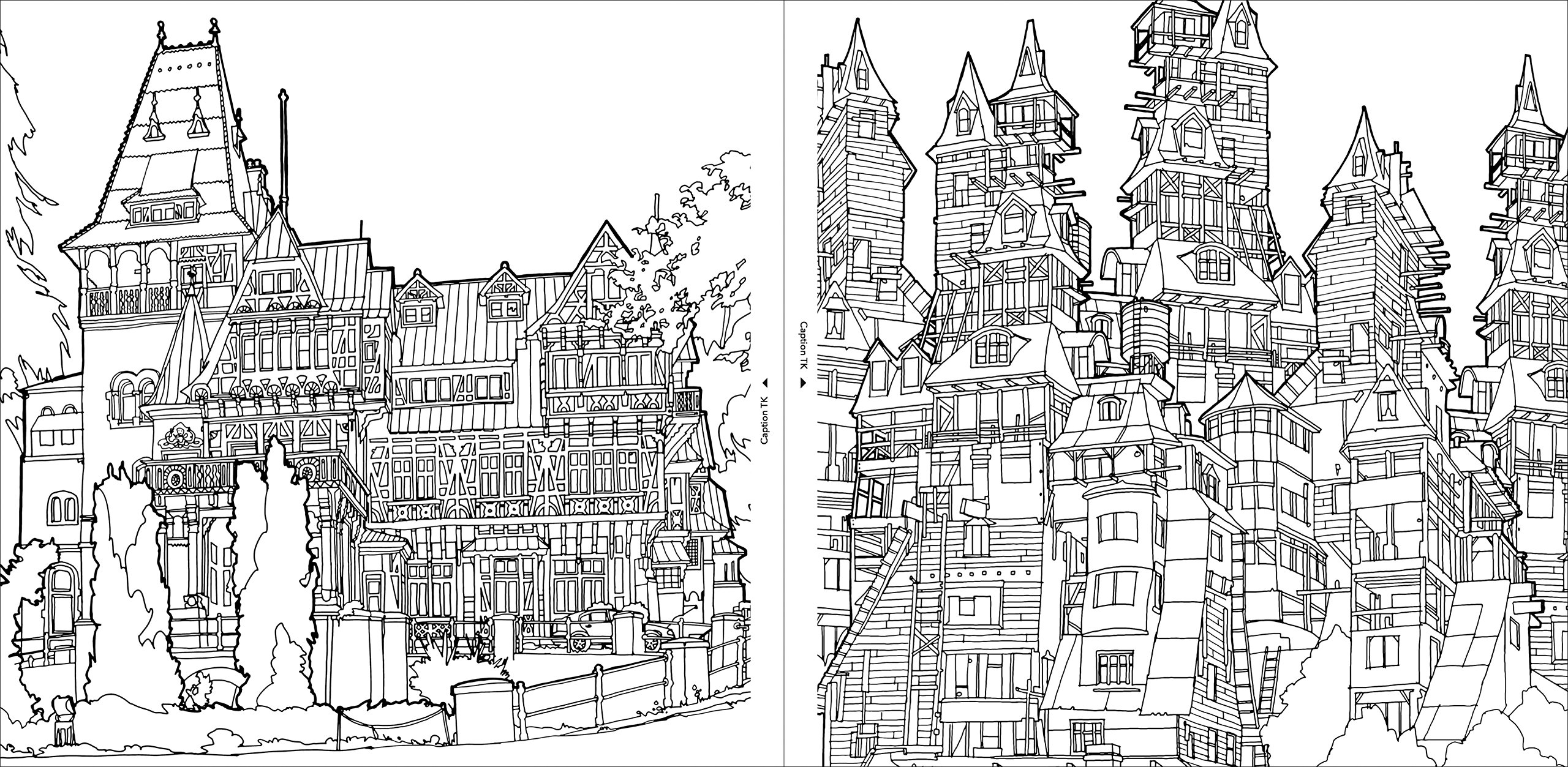 Fantastic Structures A Coloring Book of Amazing Buildings Real