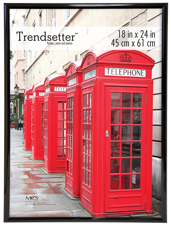 Amazoncom Mcs Trendsetter 18x24 Inch Poster Frame Black 65752