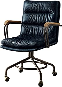 ACME Harith Executive Office Chair - 92417 - Vintage Blue Top Grain Leather