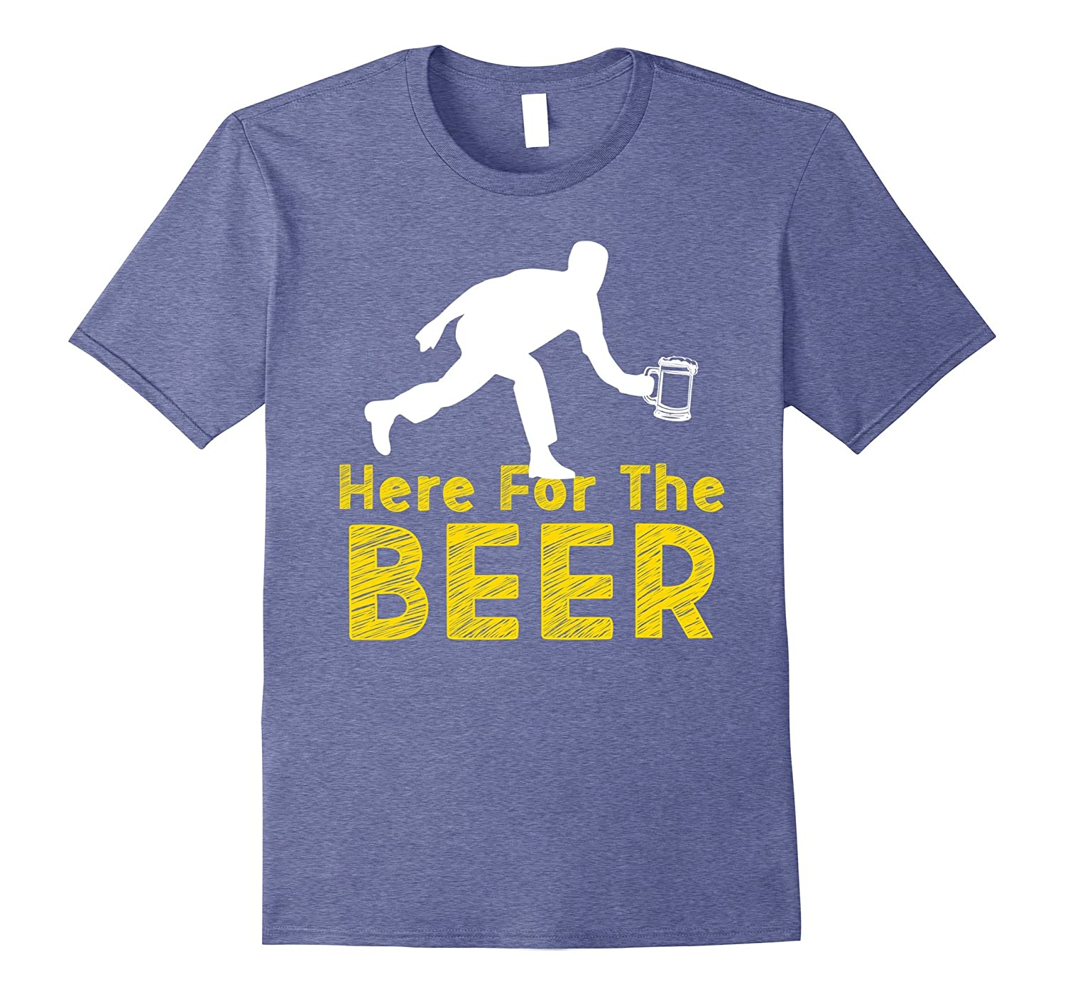 Funny Bowling Hobby Here For The Beer Drinking Novelty Shirt-Art