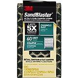 "3M 20909-60-UFS 60 Grit SandBlaster Ultra Flexible Sanding Sponge, 4.5 x 2.5 x 1"", Coarse"
