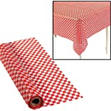 """100' X 40"""" Red And White Checkered Banquet Roll"""