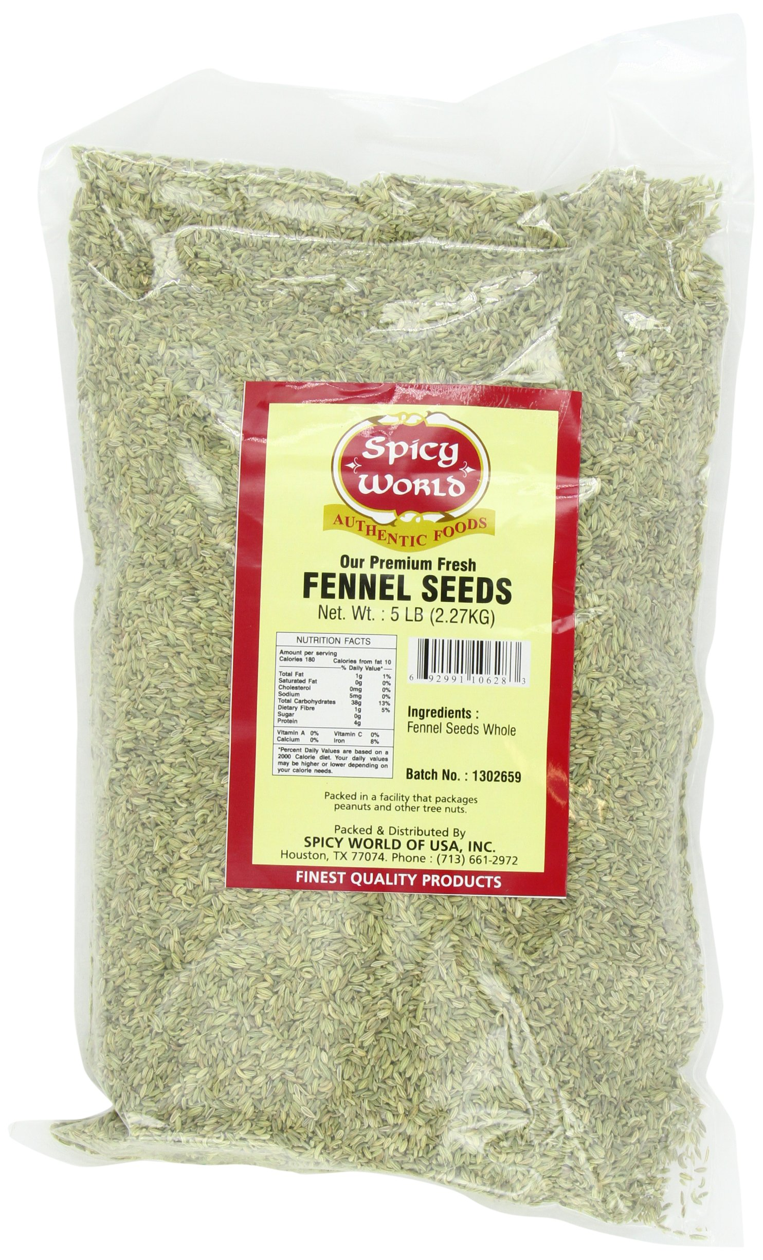 Spicy World Fennel Seeds Bulk, 5-Pounds by Spicy World