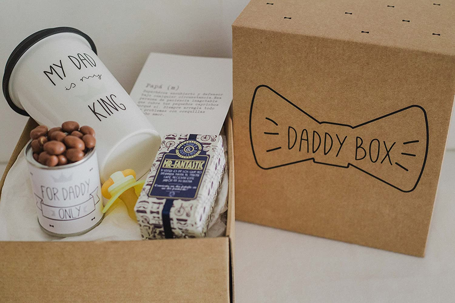 Regalo original bebé y papá / Daddy Box / idea regalos para papá y chupete bebé: Amazon.es: Bebé