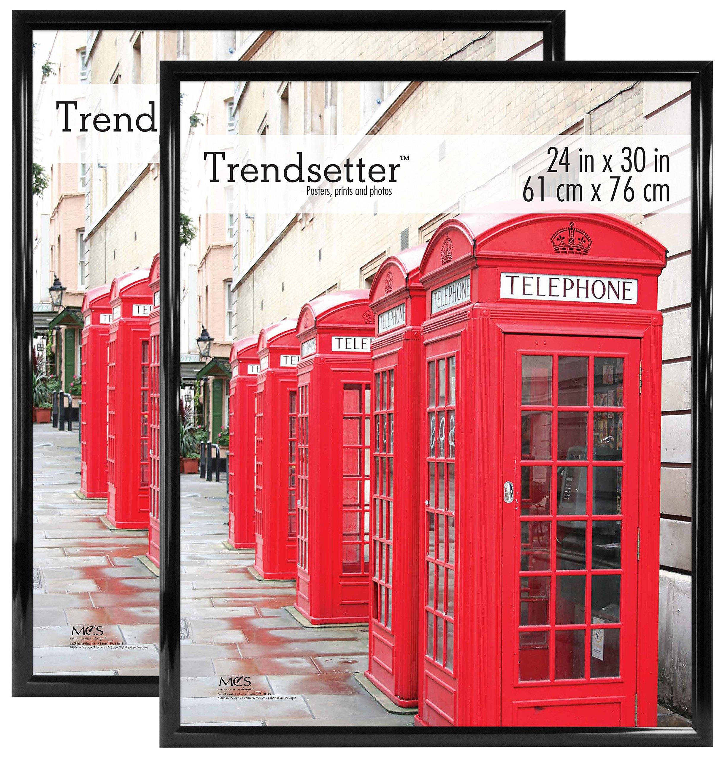 MCS Trendsetter 24x30 Inch Poster Frame (2pk), Black (65686) by MCS