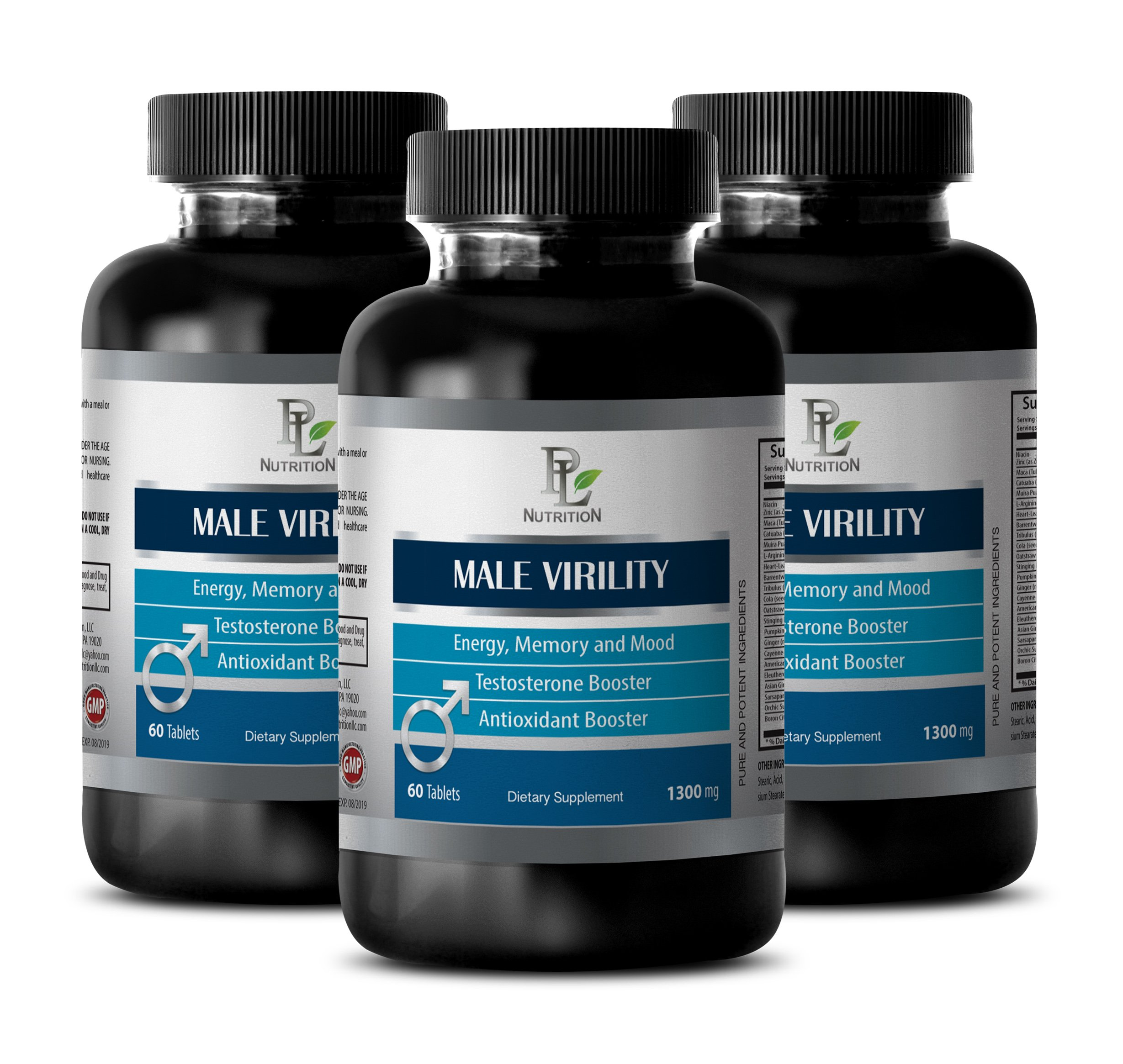 Energy and endurance - MALE VIRILITY - For sexual stamina - 3 Bottles 180 tablets