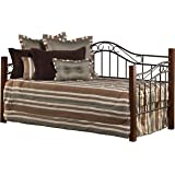 Hillsdale Furniture Daybed, Twin, Cherry/Black