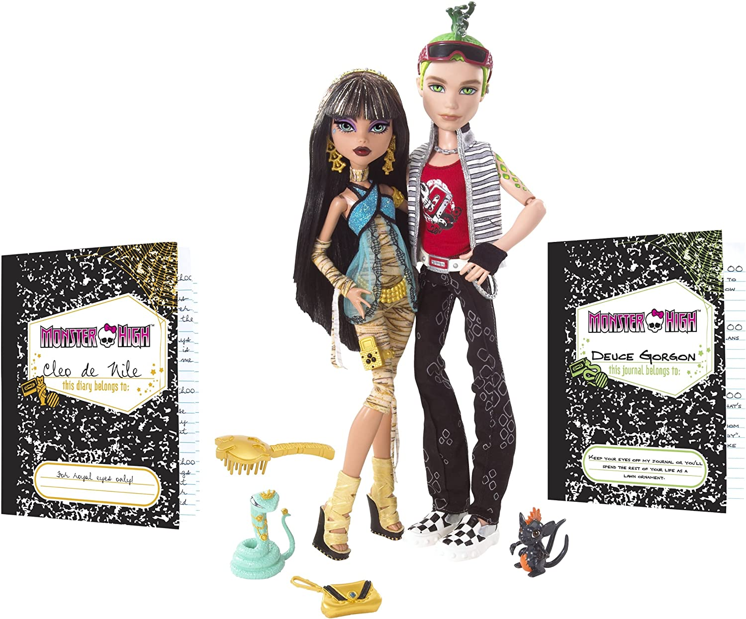 Amazon.es: Monster High - Pack Dos Muñecas Cleo y Deuce Gordon de ...