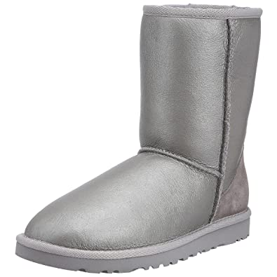 ugg australia women s classic short metallic boot sterling 5867 3 uk rh amazon co uk