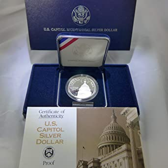 1994 S Capitol Bicentennial Proof Commemorative 90/% Silver Dollar OGP Coin
