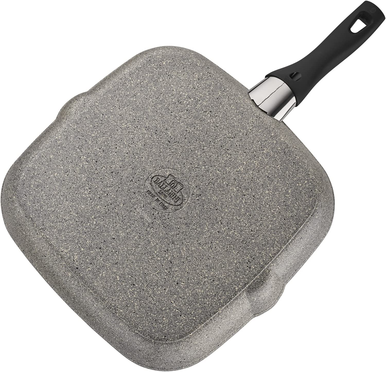 Ballarini 75001-646 Parma Forged Aluminum Nonstick Grill Pan, 11-inch, Granite