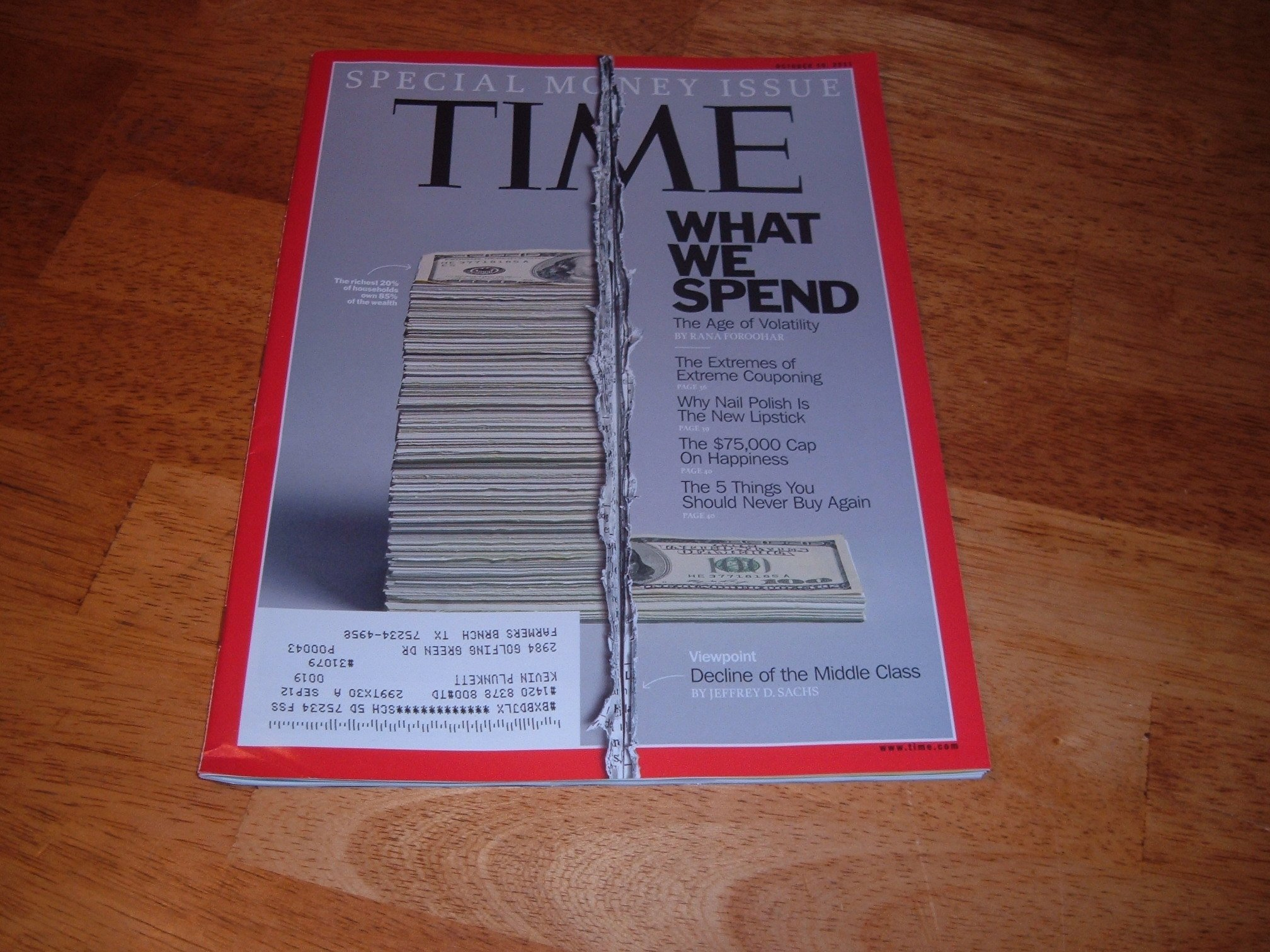 Download Time Magazine October 10, 2011 (What We Spend..Special Money Issue) ebook