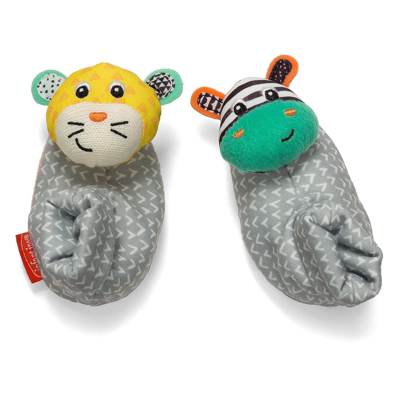 Infantino Foot Rattles, Zebra and Tiger 206-893Z