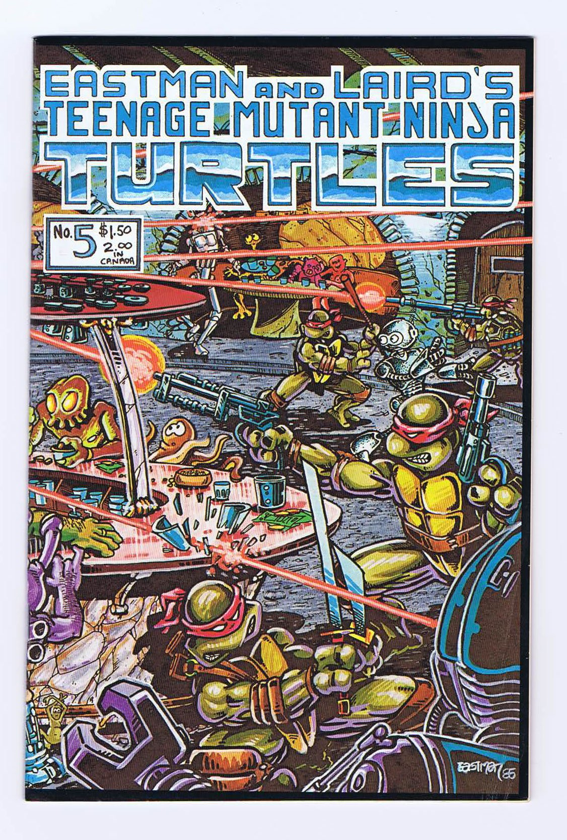 Teenage Mutant Ninja Turtles #5 Complete 1st Print 1985 ...