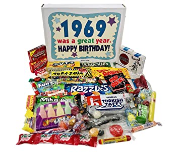 Woodstock Candy 1969 50th Birthday Gift Box Vintage Nostalgic Assortment From Childhood For 50