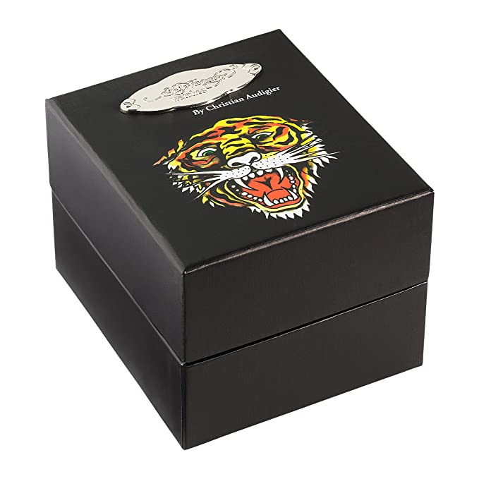 Amazon.com: Ed Hardy Womens TT-BSK Temptress Black Skull Stainless Steel 316L Watch: Ed Hardy: Watches