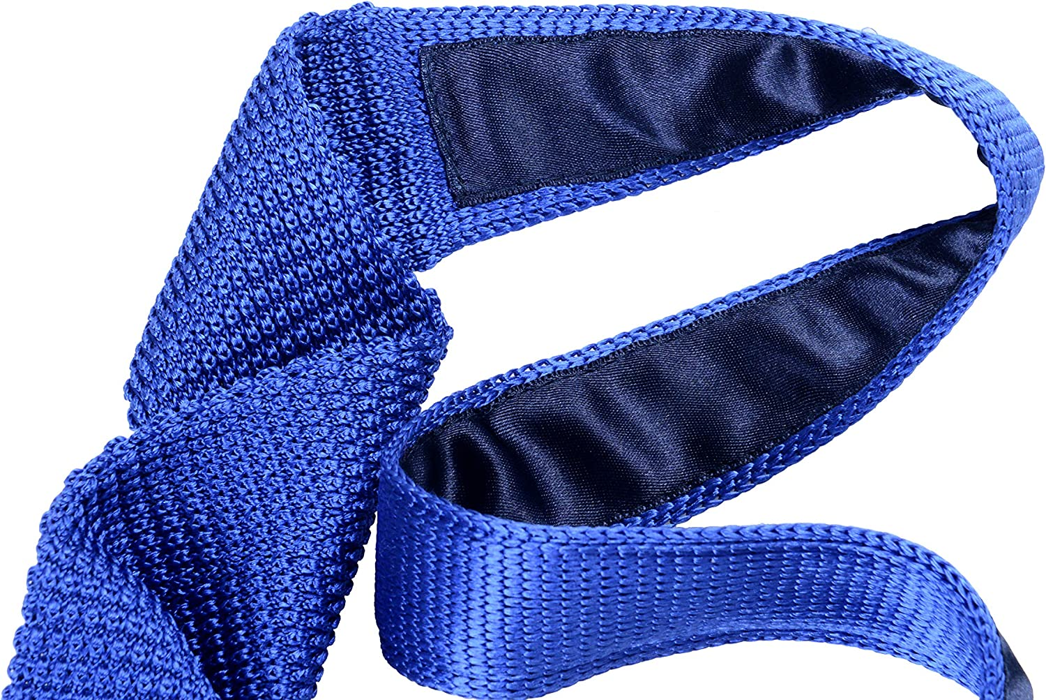 Hugo Boss Mens Blue 100/% Silk Knitted Square End Tie