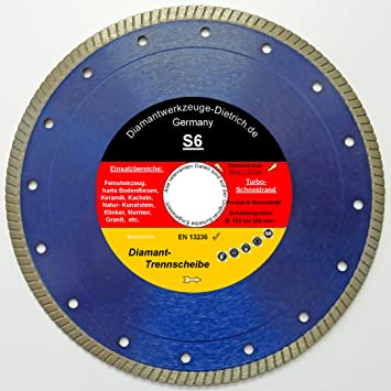 125 mm x 22,2 mm, para amoladora de /ángulo, granito, m/ármol, piedra fina Disco de corte de diamante Q-Tools