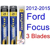 2012-2015 Ford Focus Replacement Wiper Blade Set/Kit (Set of 3 Blades