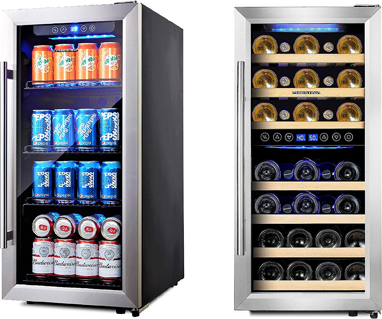 Phiestina 16 Inch Freestanding Beverage Cooler and Wine Cooler