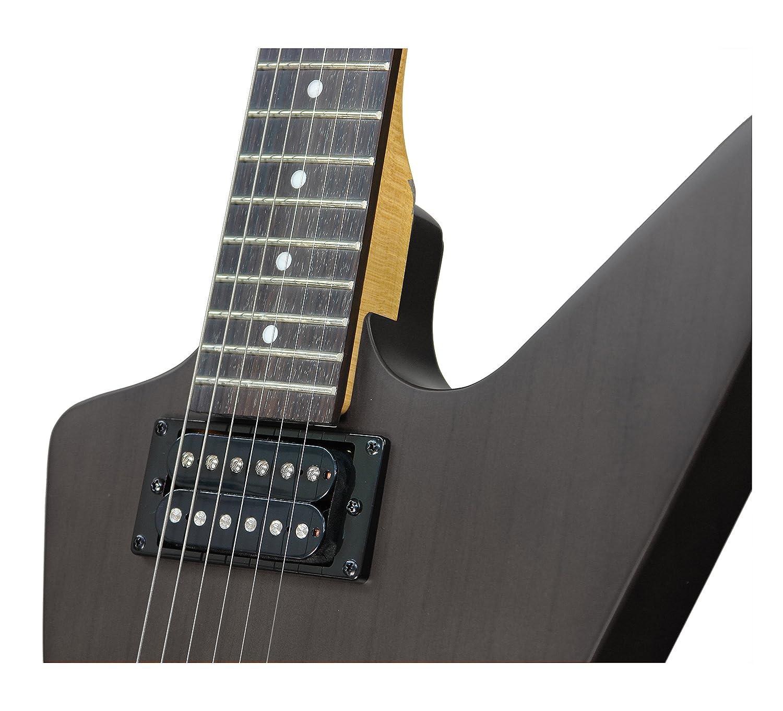 dean ml xm electric guitar transparent black