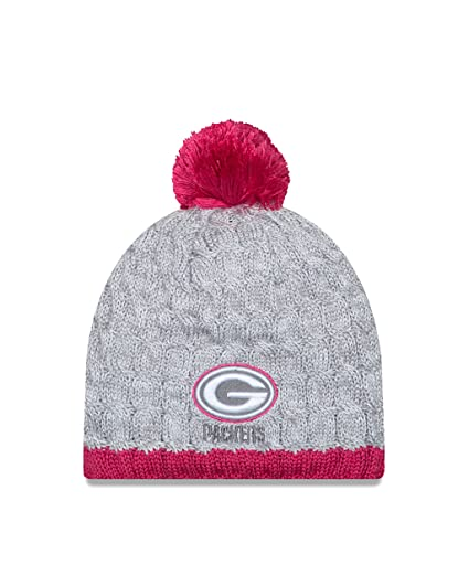e3bf8836671 Image Unavailable. Image not available for. Color  Green Bay Packers 2015  BCA Women s Knit Hat with Pom