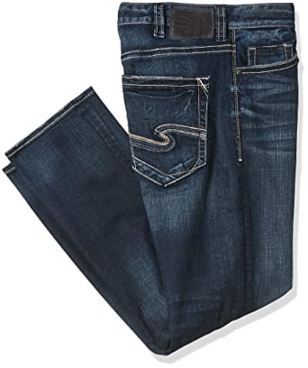 f7eff795 Silver Jeans Co. Men's Big and Tall Eddie Relaxed Fit Tapered Leg Jeans,  Dark