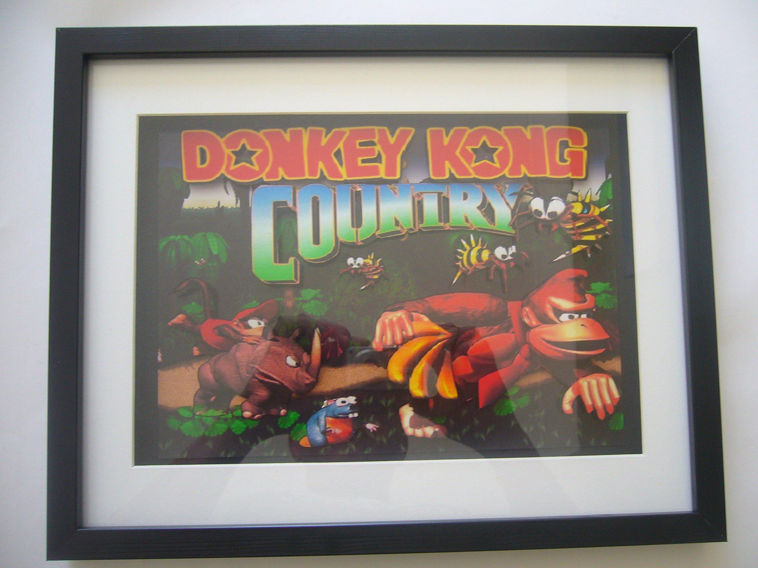 Donkey Kong Country 3D Shadow Box Diorama Art