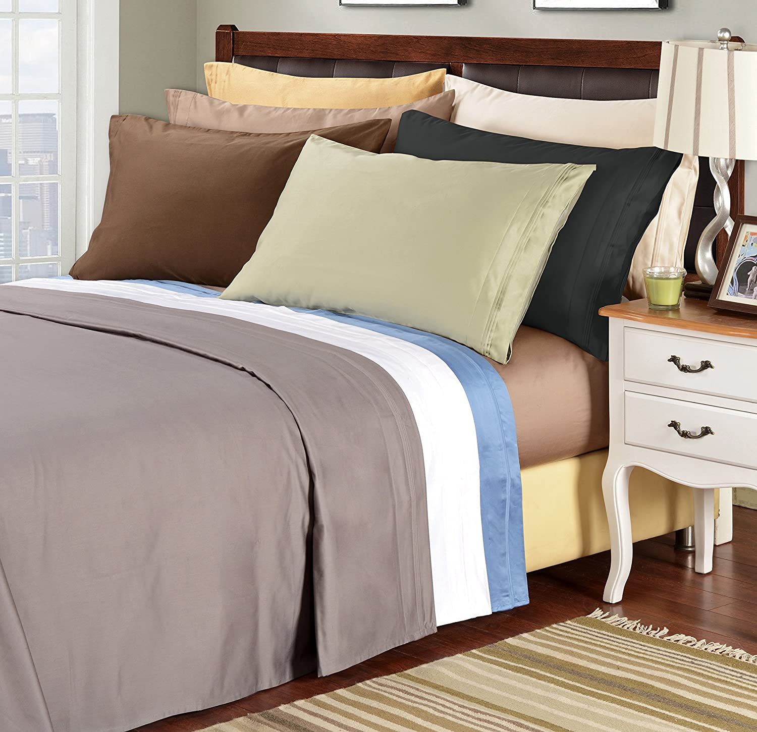 Amazoncom 1500 Thread Count 100 Egyptian Cotton Single Ply