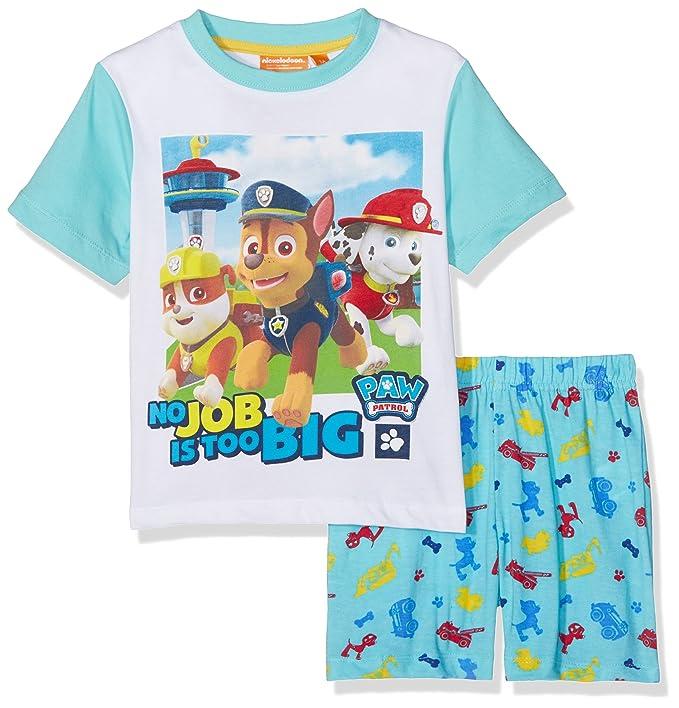 Nickelodeon No Job Is Too Big For Puppies, Conjuntos de Pijama Nios, Azul (
